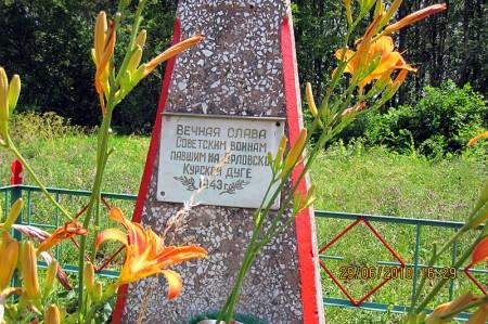 Воинское захоронение 57-99 (Глазуновский район) в июне 2010 года