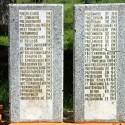 Воинское захоронение в Гремячево. Плиты с фамилиями захороненных солдат. Правая часть.