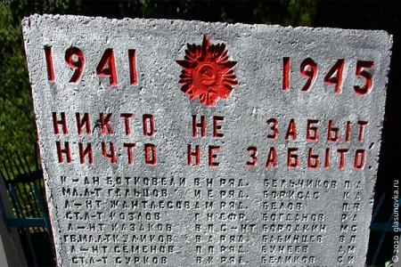 Воинские захоронения Глазуновского района
