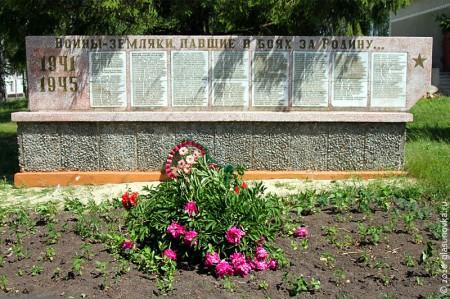 Мемориал в честь павших земляков в Гремячево Глазуновского района Орловской области