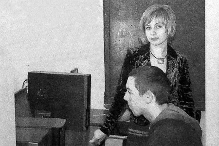 В Интернет-кабинете Глазуновского сельскохозяйственного техникума.
