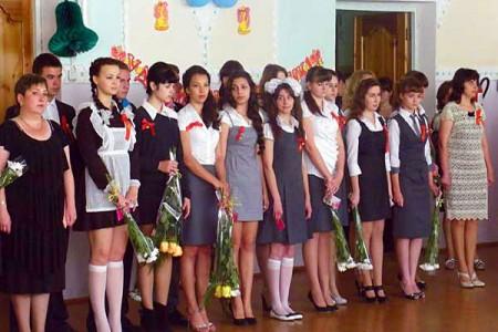 Последний звонок в Глазуновской школе.