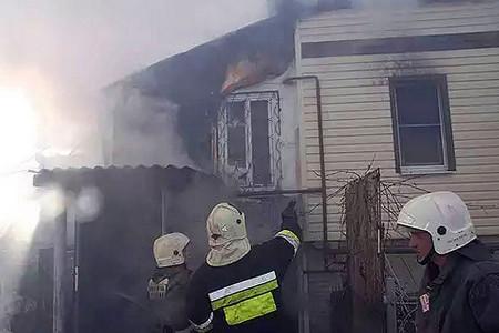 Пожар в деревне Голенищево.