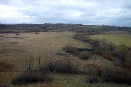 Вид с кургана-крепости, село Тагино Глазуновского района Орловской области.