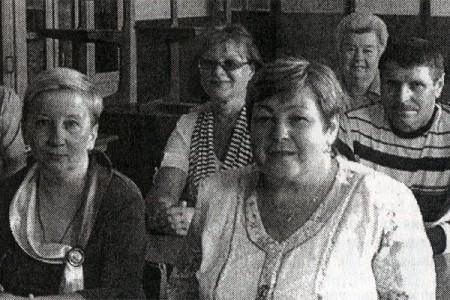 На встрече выпускников 1973 года выпуска.