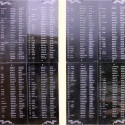 Плита с фамилиями на захоронении в Панской Глазуновского района Орловской области.