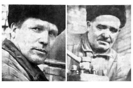Слева — А. Н. Ядыкин, справа — И. А. Буров.