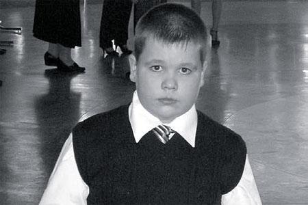 Ученик 5-го класса Новополевской школы Павел Земсков.