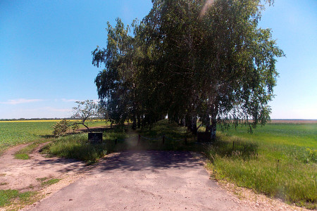 Мемориальный комплекс в деревне Очки Глазуновского района Орловской области.